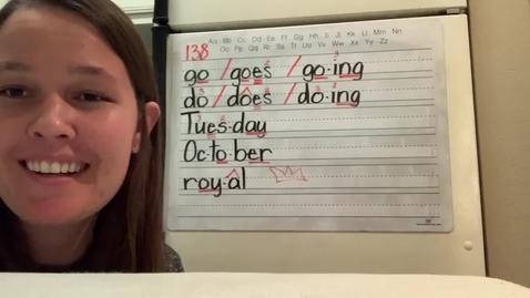 Thumbnail for entry Spelling Lesson 138 2/2