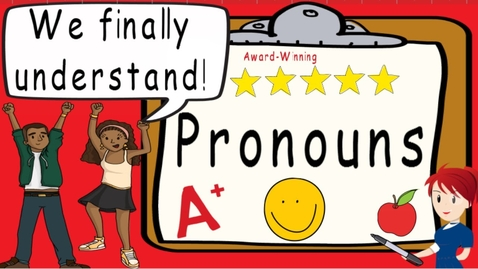 Thumbnail for entry Pronouns   Award Winning Introduction to Pronouns Teaching Video   What is a Pronoun