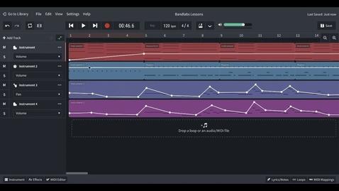 Thumbnail for entry Bandlab Basic - Volume Pan and Automation
