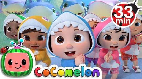 Thumbnail for entry Baby Shark Submarine + More Nursery Rhymes & Kids Songs - CoCoMelon