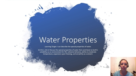 Thumbnail for entry Water Properties