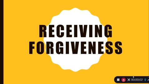 Thumbnail for entry Receiving Forgiveness 1