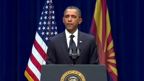 Thumbnail for entry President Obama: Memorial in Arizona