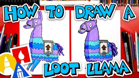 Thumbnail for entry How To Draw The Loot Llama From Fortnite