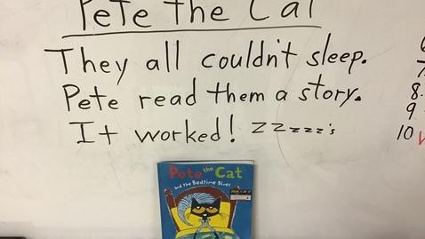 Thumbnail for entry Pete the Cat Sentences