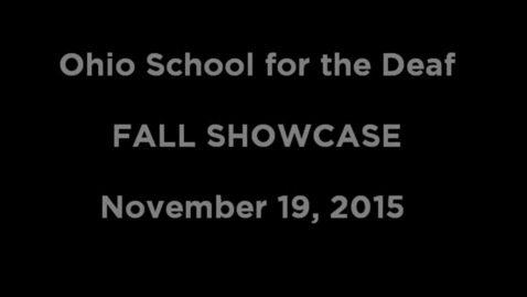 Thumbnail for entry Drama Fall Showcase (opening act)