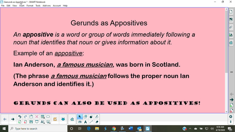 Thumbnail for entry Gerunds as Appositives