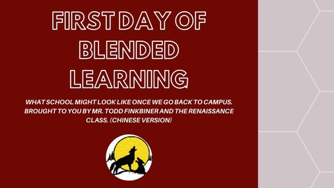 Thumbnail for entry FIRST DAY OF BLENDED LEARNING CHJH 2020-2021 Chinese Version