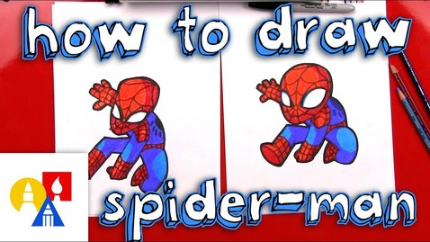 Thumbnail for entry How To Draw Cartoon Spider-Man