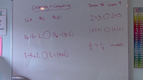 Thumbnail for entry Lesson 9 - Ordering and Comparing