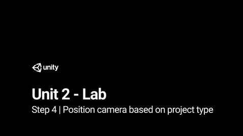 Thumbnail for entry Step 4 - Position camera based on project type