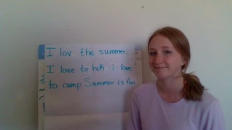 Thumbnail for entry Summer Writing Workshop