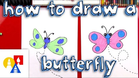 Thumbnail for entry How To Draw A Cartoon Butterfly + SYA!