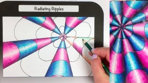 Thumbnail for entry Op Art Illusion Series: Radiating Ripples