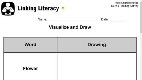Thumbnail for entry Linking Literacy- Plant Characteristics