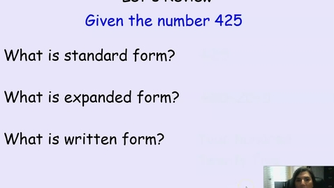 Thumbnail for entry Decimal Place Value Lesson