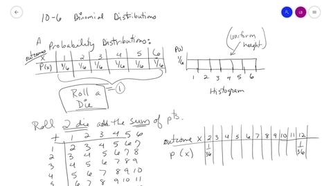 Thumbnail for entry alg2 10-6 Part1 Binom Distrib  MrsB