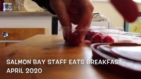 Thumbnail for entry Salmon Bay staff eats breakfast!