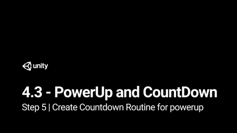 Thumbnail for entry 6.Create Countdown Routine for powerup