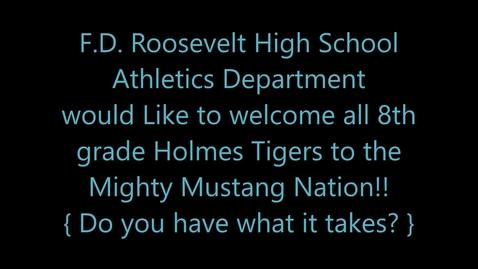 Thumbnail for entry 2020 Franklin D. Roosevelt High School Athletics  Recruitment Video