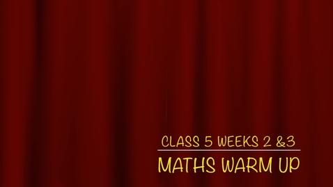 Thumbnail for entry Class 5 T2 W3 Part A Maths