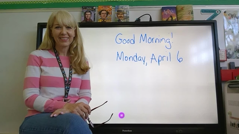 Thumbnail for entry Third Grade Morning Meeting 4/6