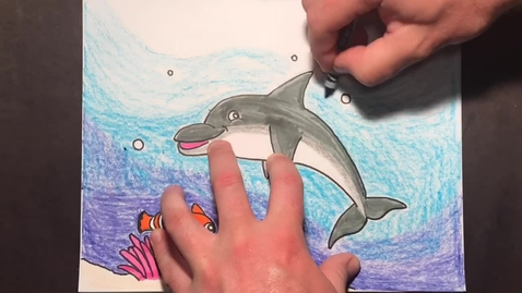 Thumbnail for entry Daniel Boone Art - Drawing a Dolphin