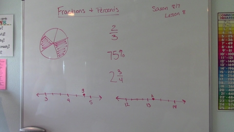 Thumbnail for entry Lesson 8 - Fractions and Percents