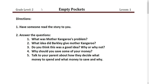 Thumbnail for entry Empty Pockets Story Read Aloud