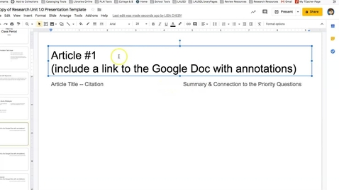 Thumbnail for entry How to Add a Hyperlink to a Google Doc in Google Slides