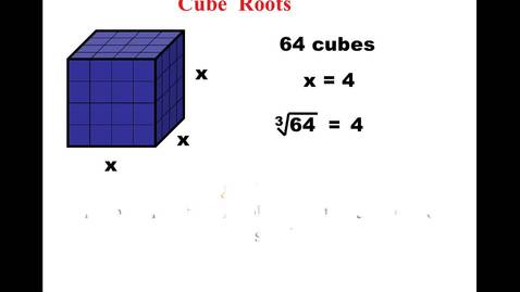 Thumbnail for entry Day 6 Cube Roots