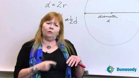 Thumbnail for entry Day 9 - 8th grade Understanding Pi, Diameter, Radius and Circumference