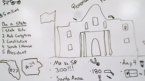 Thumbnail for entry Social Studies -  April 28 /13.2 The Statehood of Florida and Texas