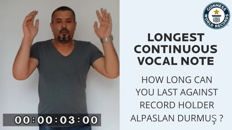 Thumbnail for entry Longest continuous vocal note