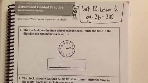 Thumbnail for entry Unit 12, Lesson 6 Helpful Tips