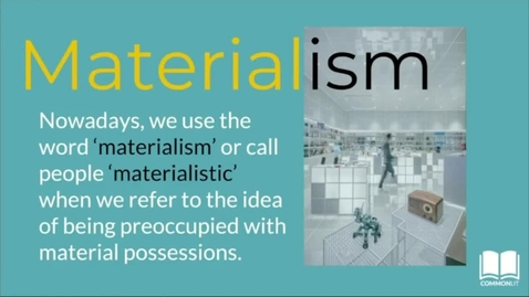 Thumbnail for entry Materialism (Ruthless Pre-Read)