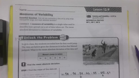 Thumbnail for entry 6th Grade Math 13.4 - Measures of Variability - Big Book - Wednesday May 13
