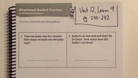 Thumbnail for entry Unit 12, Lesson 9 Helpful Tips