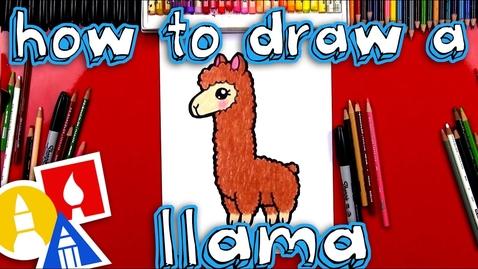 Thumbnail for entry How To Draw A Cartoon Llama