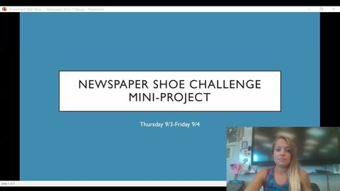Thumbnail for entry Newspaper Shoe Challenge