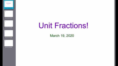 Thumbnail for entry Unit Fraction Expressions