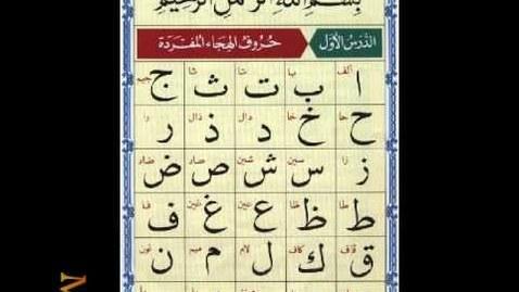 Thumbnail for entry ( 1 ) الدرس الأول من القاعدة النورانية_نور محمد حقانى