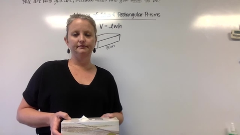 Thumbnail for entry Volume of Cubes and Rectangular Prisms (Monday, April 20)