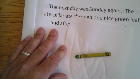 Thumbnail for entry Wednesday Hungry Caterpillar book