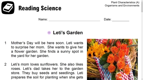 Thumbnail for entry Reading Science- Leti's Garden