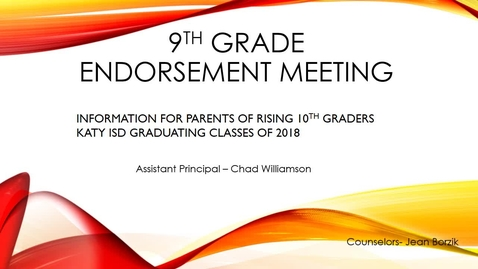 Thumbnail for entry THS 9th Grade Parent Endorsement Meeting Spring 2015