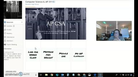 Thumbnail for entry APCSA.Monday