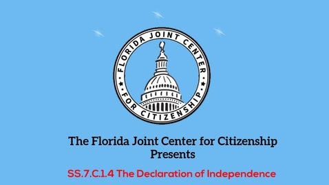 Thumbnail for entry 1.4 Declaration of Independence