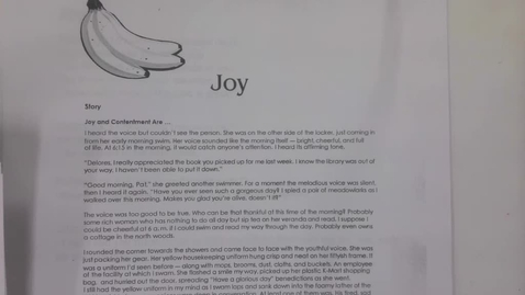 Thumbnail for entry 6th Grade, Tuesday, May 7 Fruits of the Spirit Joy