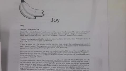Thumbnail for entry 6th Grade, Tuesday, May 7 Fruits of the Spirit Joy